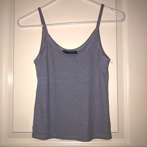Brandy Melville blue and white striped tank top.